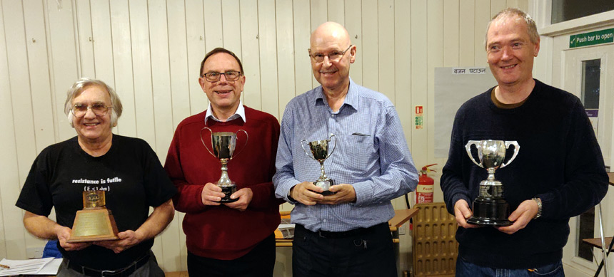 2019 Trophy Winners at the Farnborough and District radio society